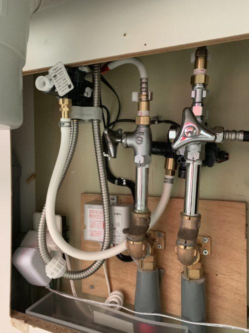 キッチンの混合水栓をINAX(LIXIL)のタッチレス(ハンズフリー)水栓に交換しました。(DIY)