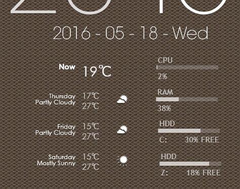 以前紹介したカジェットアプリ「Rainmeter」の天気がデータを取得しなくなった。