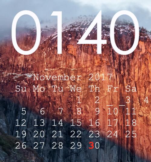 macOS High SierraにアップデートしたらGeekToolのカレンダー表示が変になった!